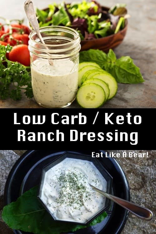 Ranch dressing in a jar and in a bowl