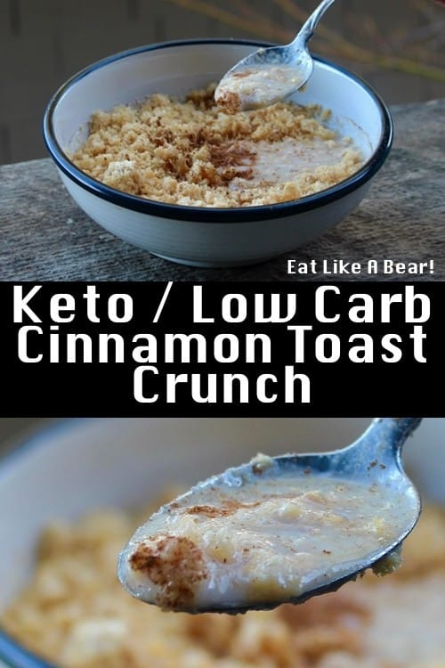Keto Cinnamon Toast Crunch Cereal