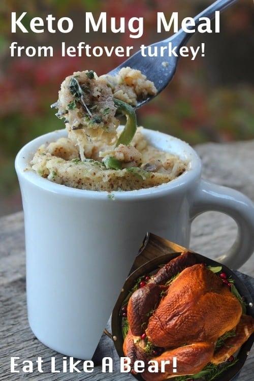 Keto Mug Recipe: Turkey Leftover Style!