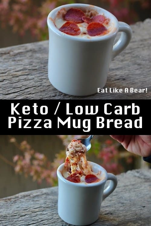 Keto Mug Meal, Pizza Style!