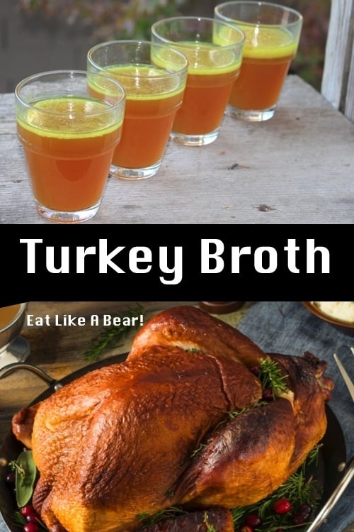 Turkey Stock (Broth) from Leftover Turkey Bones