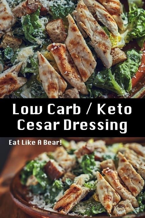 Image of a low carb Caesar salad
