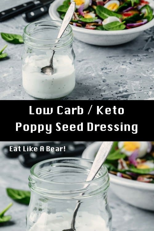 An image of poppy seed dressing in a canning jar