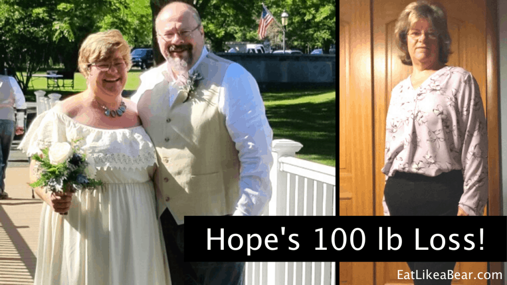 Hope, pictured in her before and after photos, displaying her weight loss success story