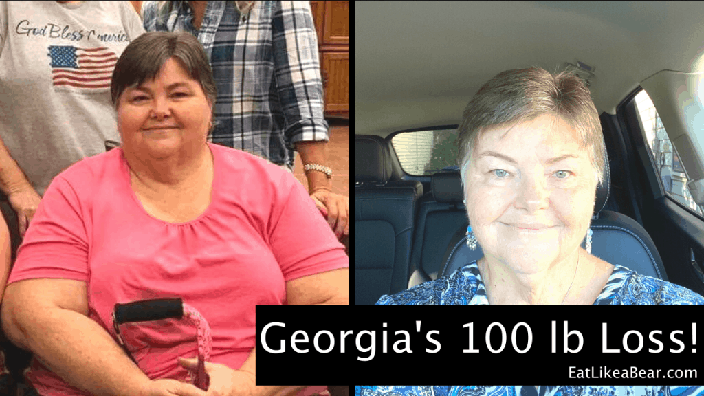 Georgia, pictured in her before and after photos, displaying her weight loss success story