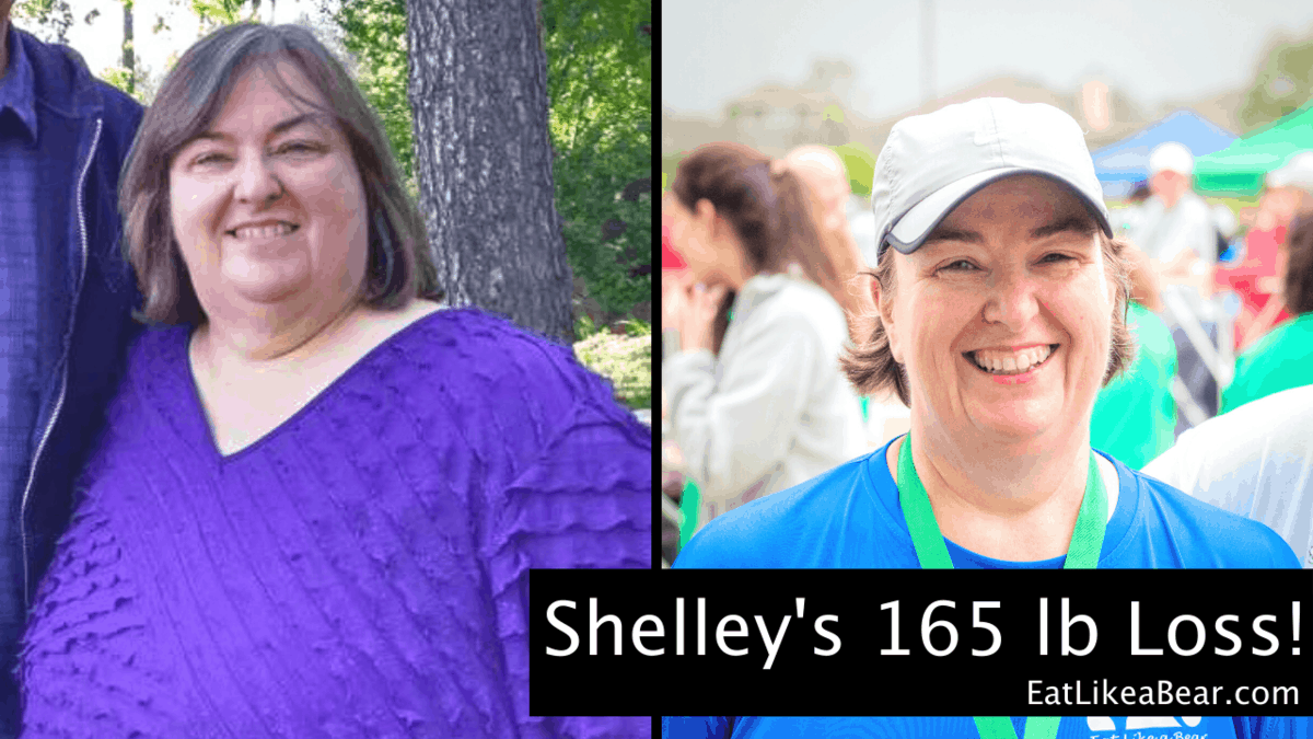 Shelley, pictured in her before and after photos, displaying her weight loss success story