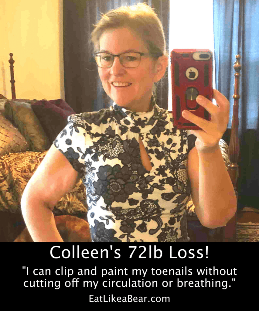 Photo of Colleen after 72 pound weight loss