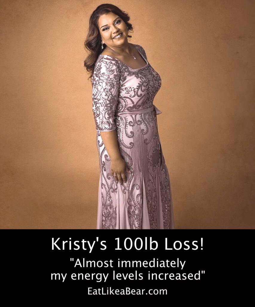 Photo of Kristy after 100 pound weight loss
