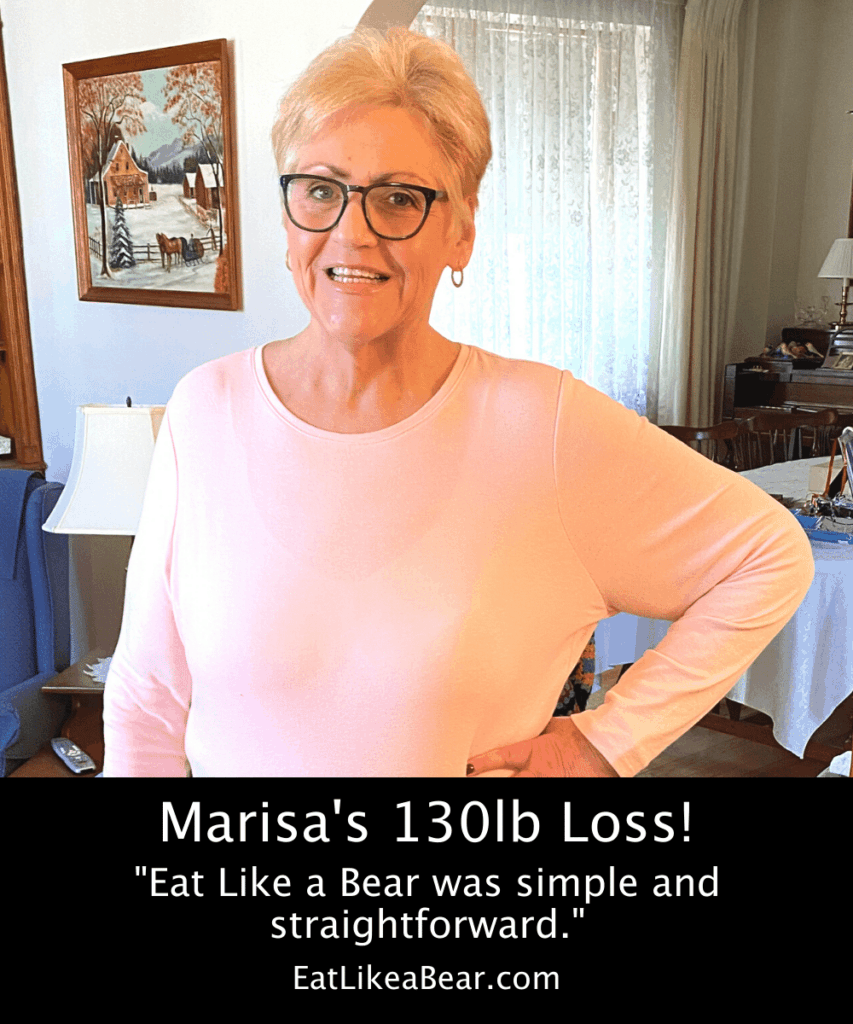 Photo of Marisa after 130 pound weight loss