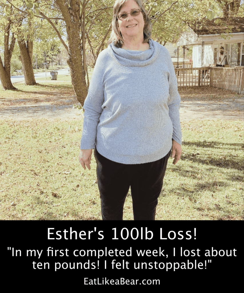 Photo of Esther after 100 pound weight loss
