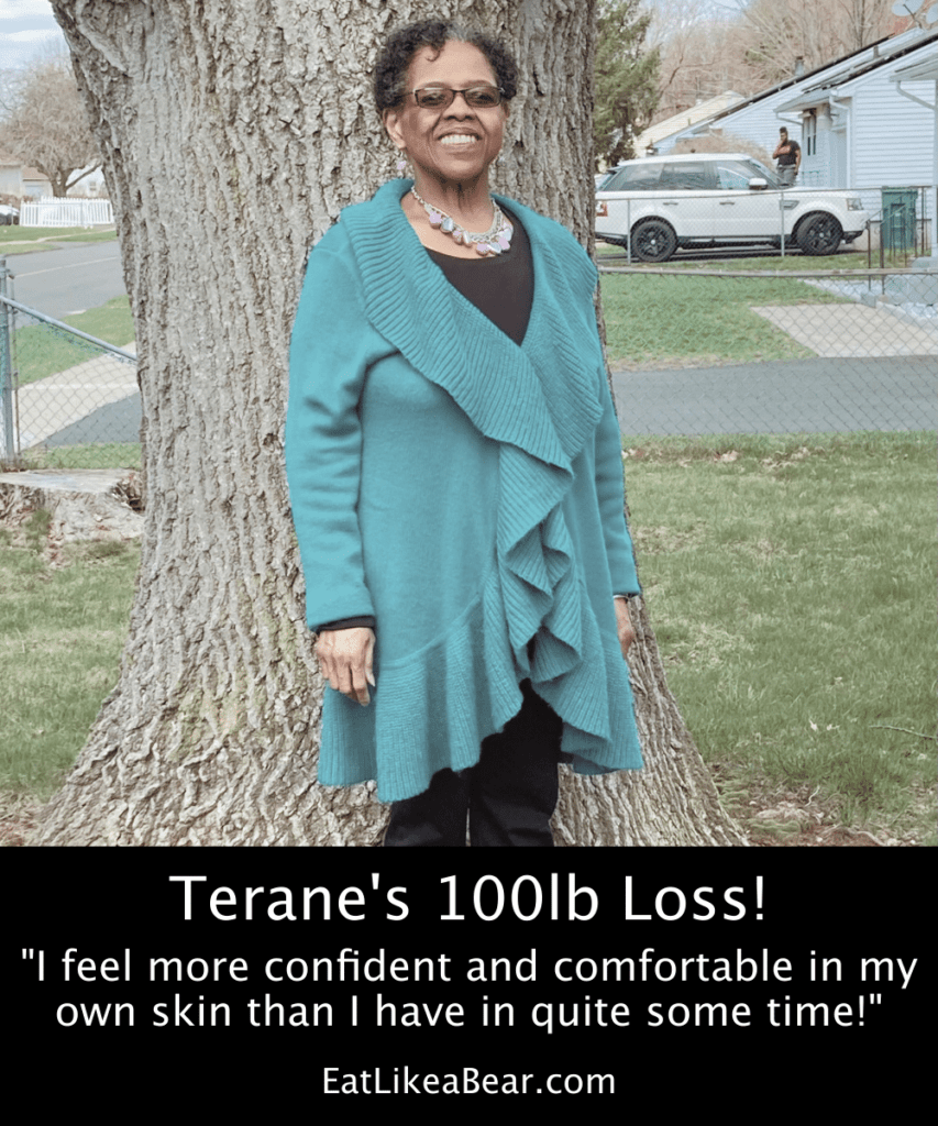 Photo of Terane after 100 pound weight loss